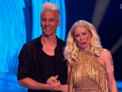 Dancing On Ice star Denise Van Outen 'still really sore' after dislocating shoulder