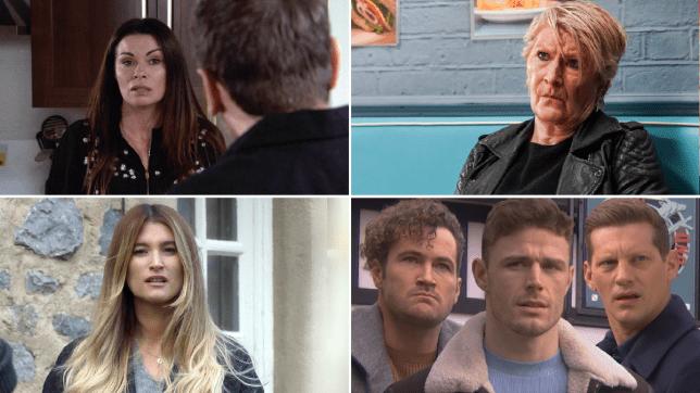Carla in Coronation Street, Shirley in EastEnders, Debbie in Emmerdale, George, Dean and John Paul in Hollyoaks