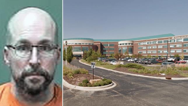 Steve Bandenburg mugshot and file photo of Advocate Aurora Medical Center