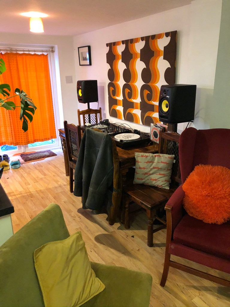 What I Rent: Iona and Jack, Oldham, Manchester - table in kitchen and living room