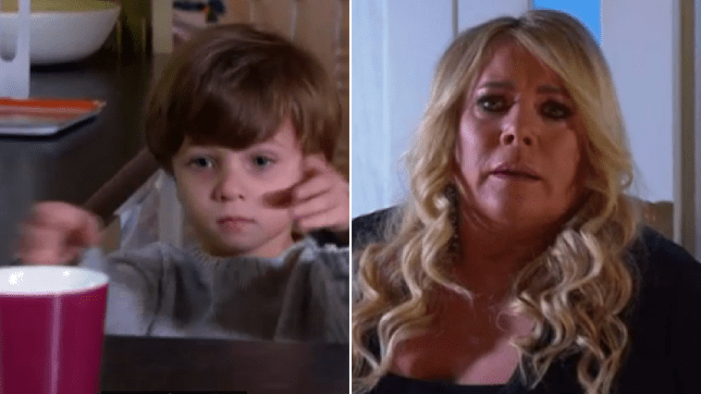 Ollie and Sharon in EastEnders