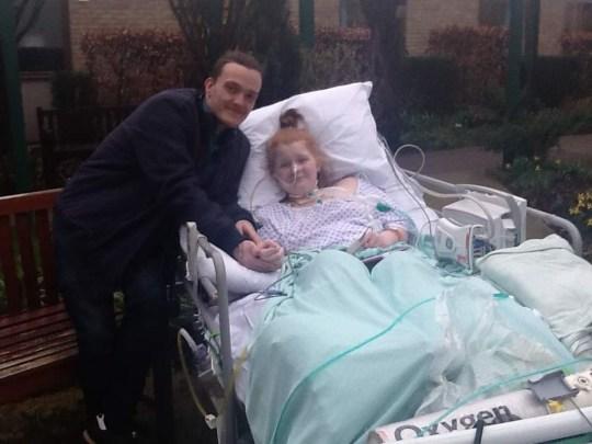 ami hook-ireland in hospital bed