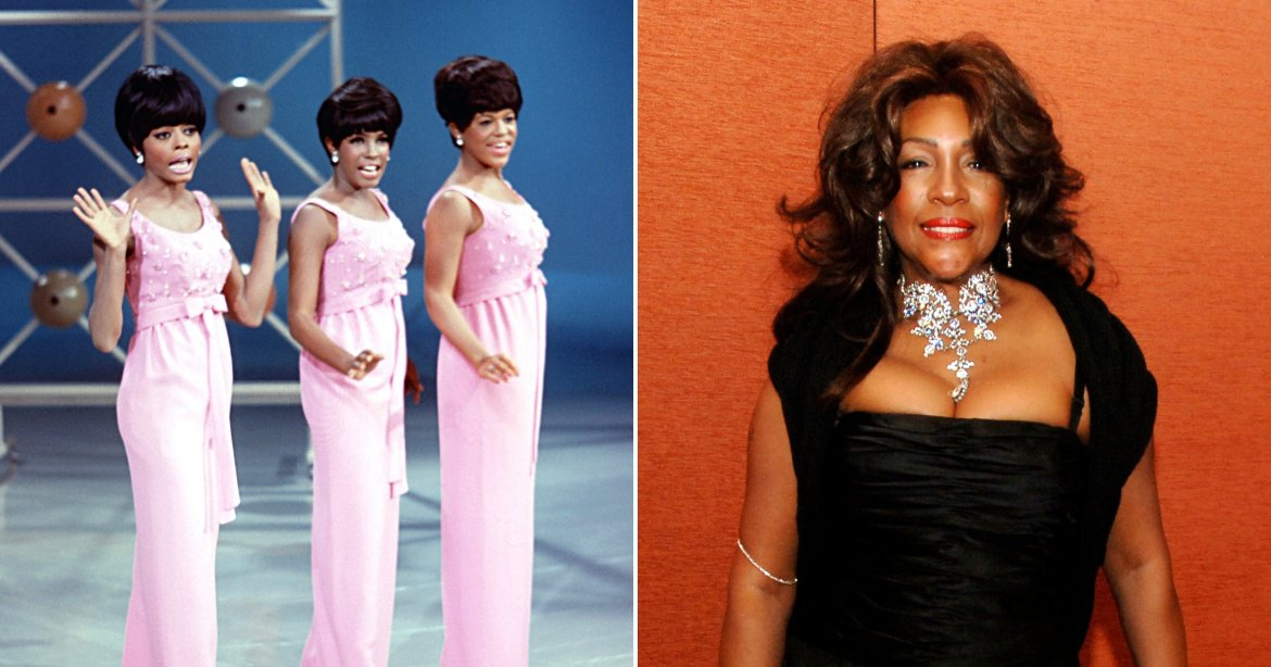 The Supremes performing and singer Mary Wilson