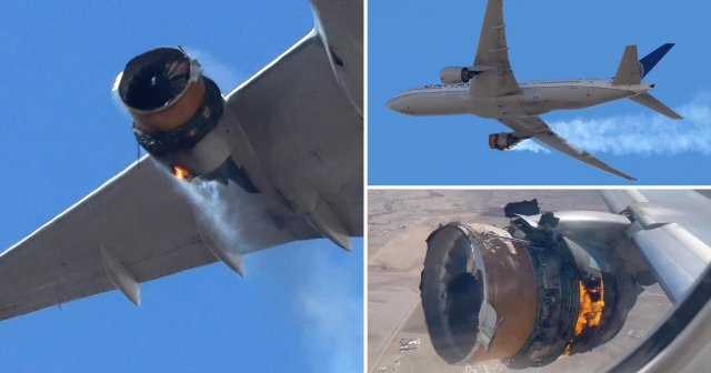 United Airlines flight UA328 returned to Denver International Airport with its starboard engine on fire after it called a Mayday alert