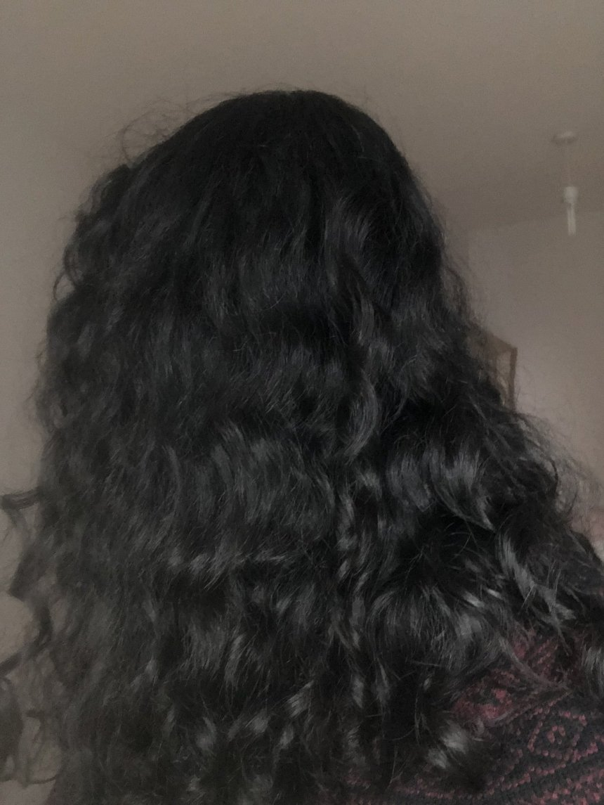 Head of hair from the back