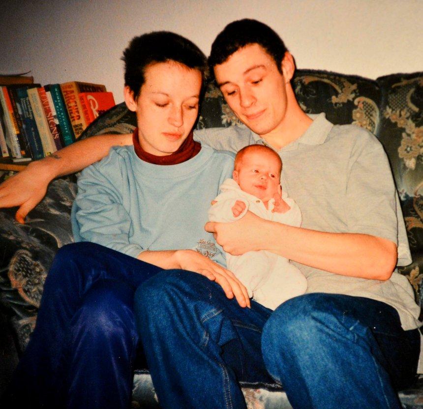 Baby Shianne Treanor with serial killer mum Joanna Dennehy and also her dad John Treanor in 1999.