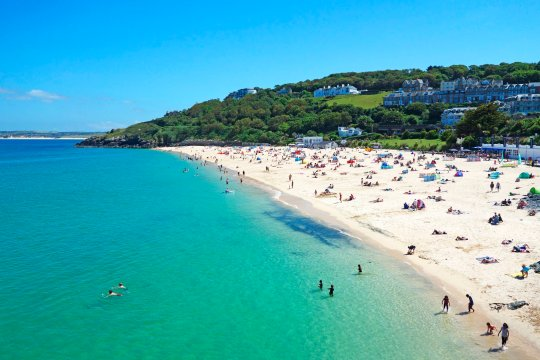 summer on porthminster beach, St. Ives, Cornwall, England. (Photo by: Kevin Britland/Education Images/Universal Images Group via Getty Images)