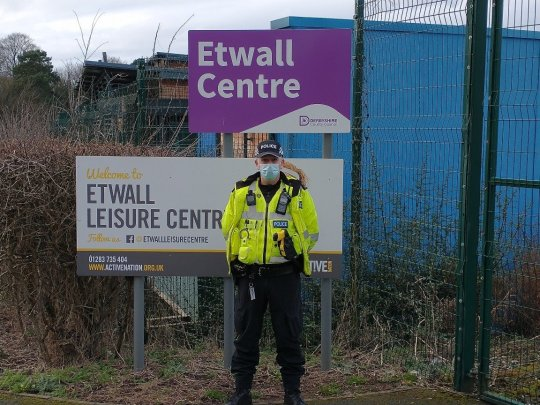 The police force has warned parents they will be fined if their children break lockdown rules after around 20 youths were caught playing football at the locked leisure centre on Monday