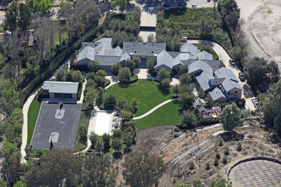 Kim Kardashian and Kanye West's Calabasas mansion
