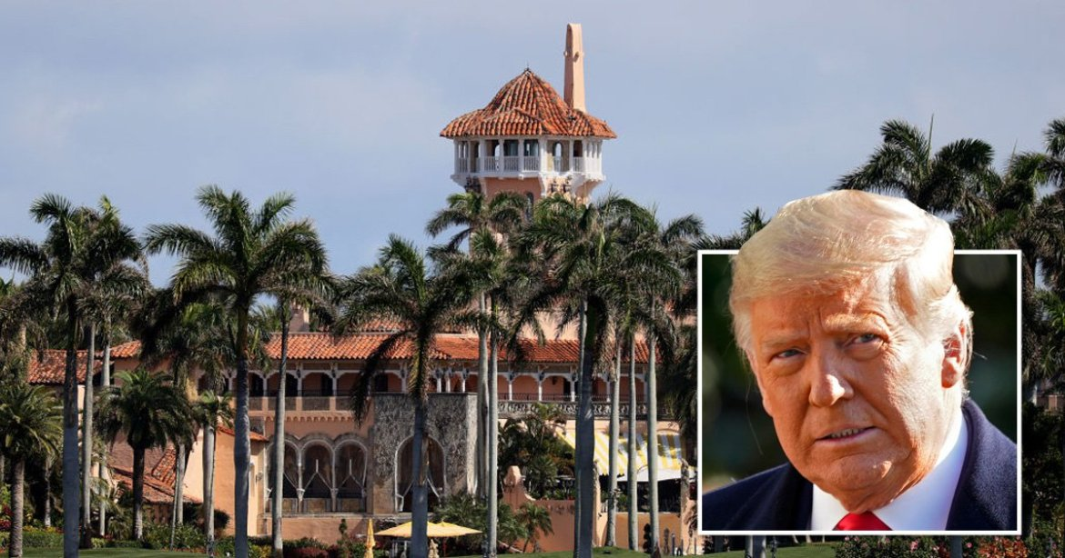 The  Mar-a-Lago Club in Florida where Donald Trump has lived since he left office. Part of the  Mar-a-Lago Club in Florida has been closed because some employees tested positive for coronavirus.