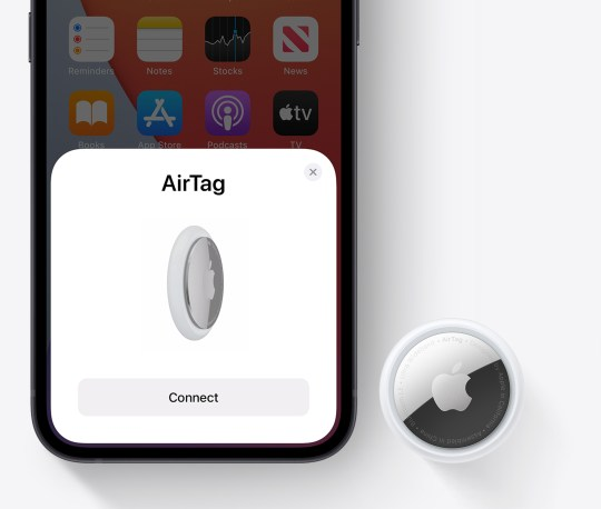 Once you pair an AirTag with your iPhone, it's locked to an AppleID (Apple)