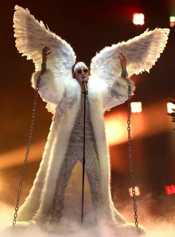 Andreas Haukeland 'TIX' of Norway during Eurovision 2021