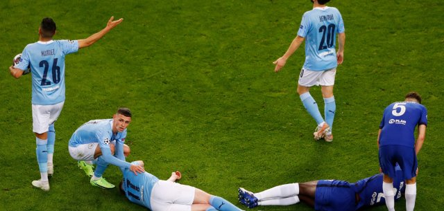 Manchester City's Kevin De Bruyne in tears after horrific eye injury in Champions League final vs Chelsea