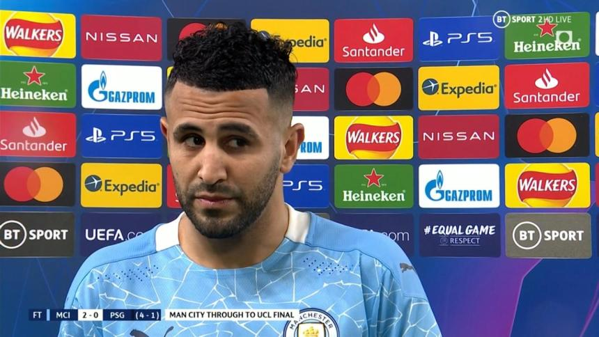 Riyad Mahrez accused PSG of 'losing their nerve' during their defeat to Manchester City