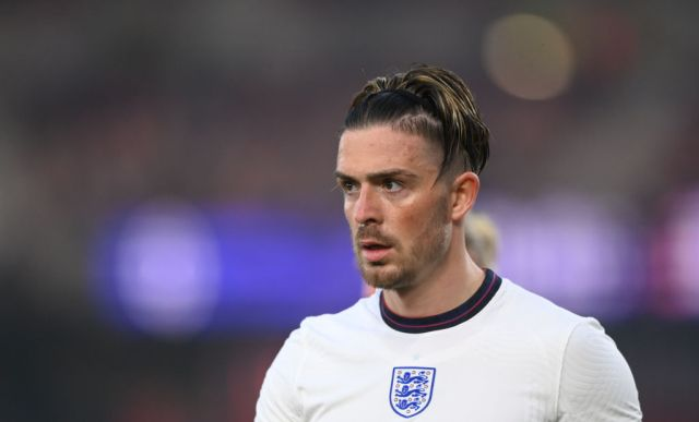 England player Jack Grealish looks on during the international friendly match between England and Austria at Riverside Stadium on June 02, 2021 in Middlesbrough, England.