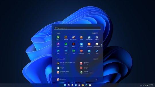 Windows 11 also has a 'dark mode' (Credits: PA)
