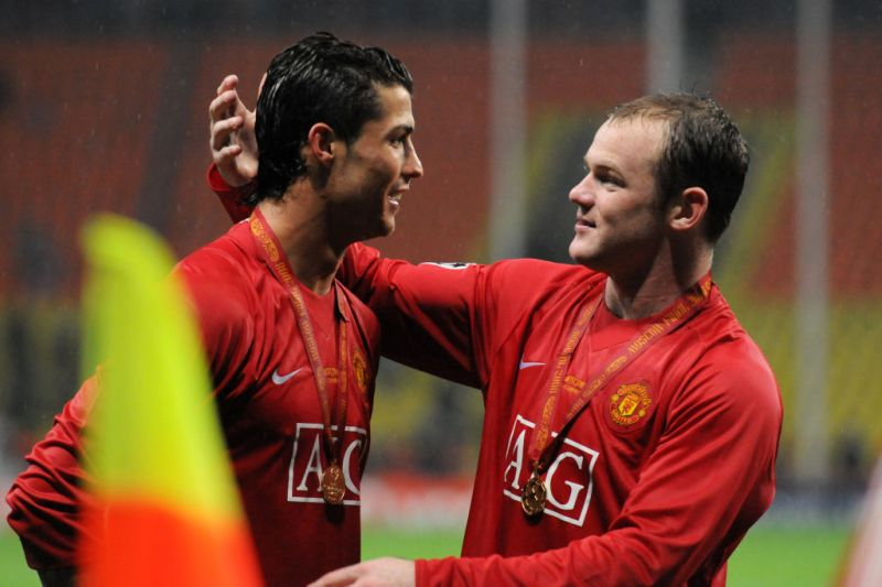 Cristiano Ronaldo and Wayne Rooney won the Champions League with Manchester United in 2008