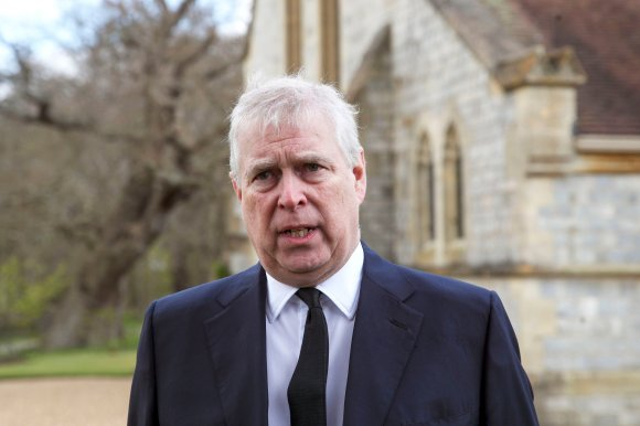 Britain's Prince Andrew during a television interview at the Royal Chapel of All Saints at Royal Lodge, Windsor.