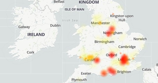 Reports that Sky Broadband is down are coming in from across the UK (Downdetector)