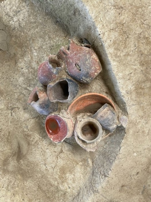 Painted pottery vessels (from Qiaotou platform mound) for serving drinks and food (Jiajing Wang)