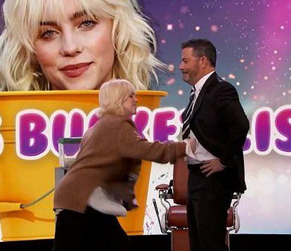 Billie Eilish punches Jimmy Kimmel
