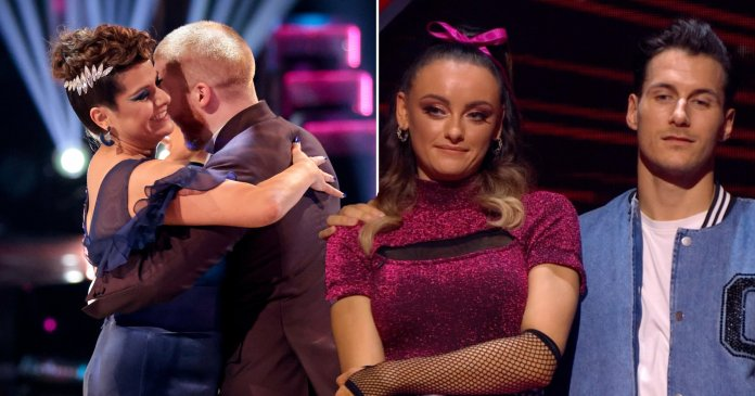 nina wadia sent home by katie mcglynn on strictly