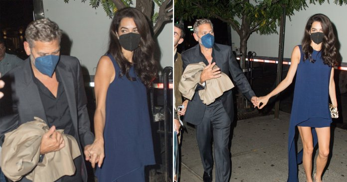 George Clooney with wife Amal in New York