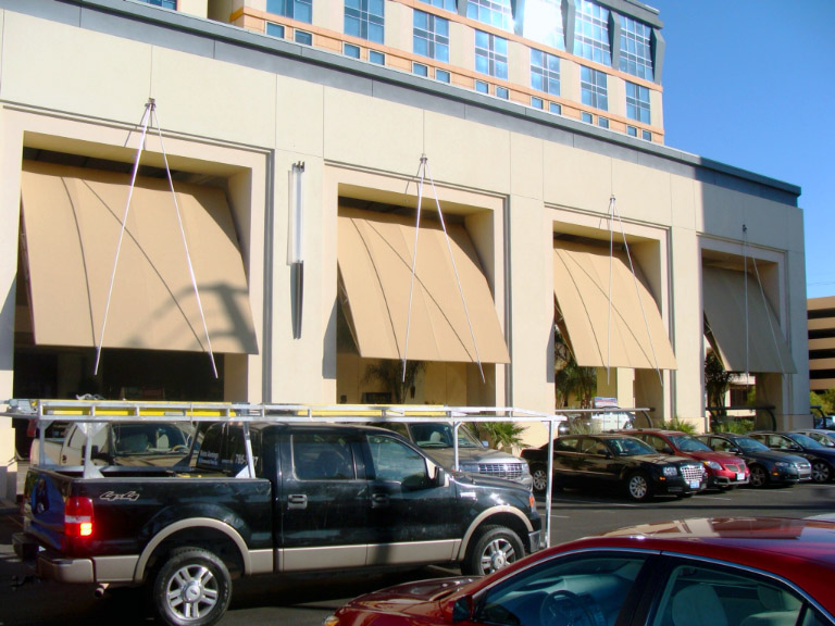 Custom Commercial Retractable Awnings by Metro Awnings & Iron in Las Vegas, NV