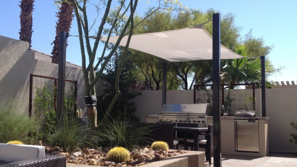 Residential Shade Structure Application by Metro Awnings of Southern Nevada