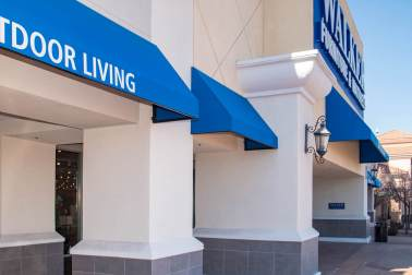Commercial Awning Structure Project - Walker Furniture of Henderson, Nevada