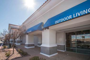 Commercial Awning Fabrication & Installation for Walker Furniture located in Henderson, Nevada