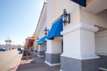 Beautiful Custom Commercial Awnings for Walker Furniture & Mattress in Henderson, Nevada - Metro Awnings