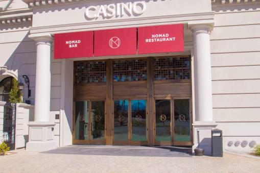 NoMad Las Vegas Custom Vertically Hung Awning System - Metro Awnings