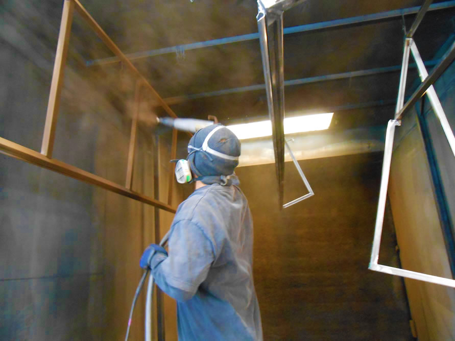 Custom Ironwork Powder-coating by Metro Awnings & Iron