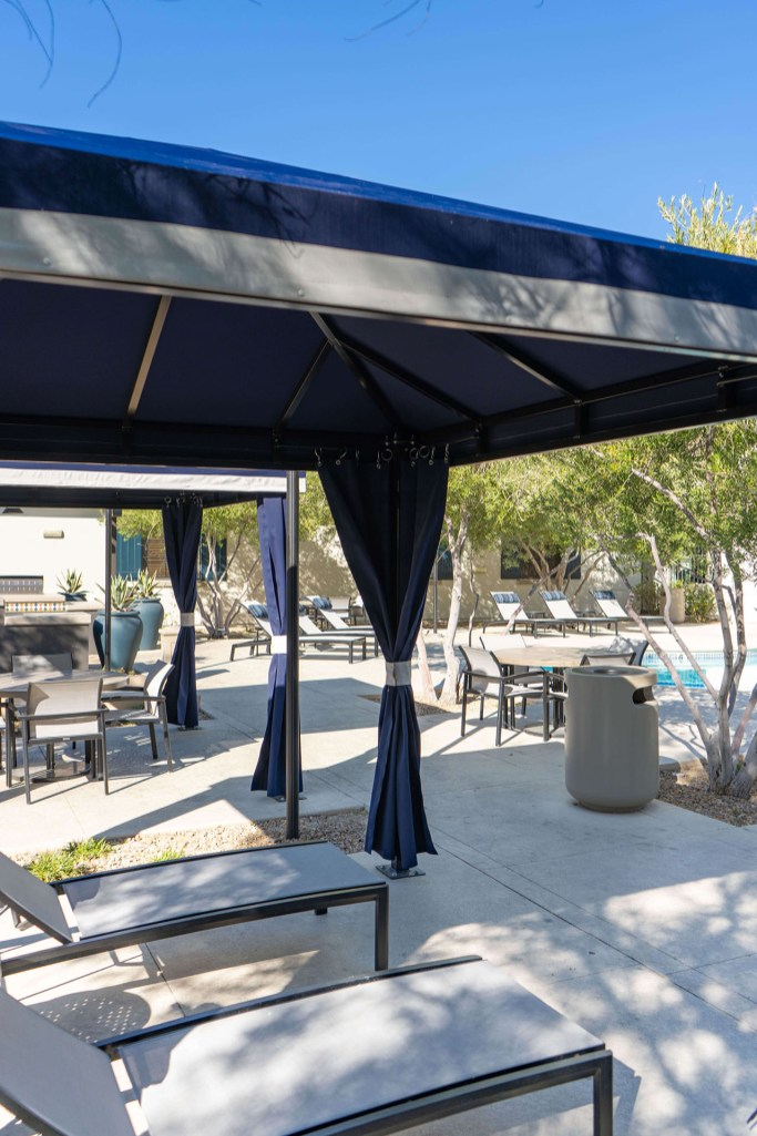 Interior of Custom Cabanas by Metro Awnings