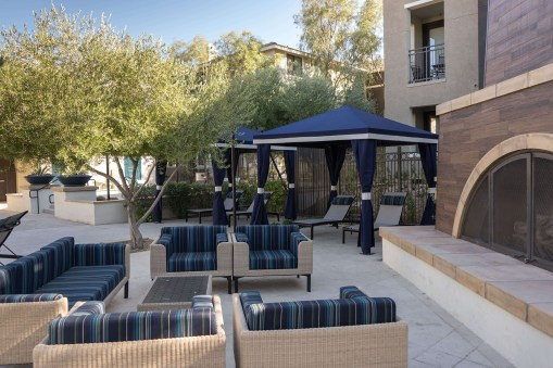 Mountain Trails Apartment Custom Designed and Fabricated Poolside Cabanas