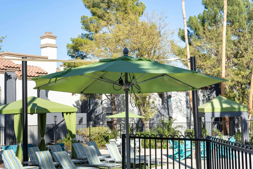 Custom Poolside Shade Umbrellas By Metro Awnings of Southern Nevada