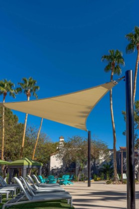 Custom Shade Sails Design, Fabrication, and Installation by Metro Awnings of Las Vegas, Nevada