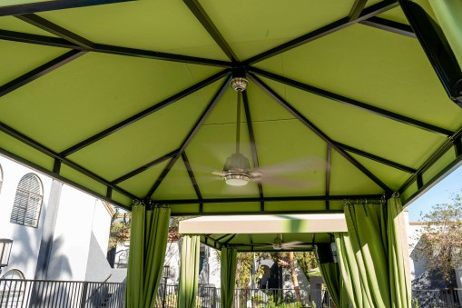 Interior Poolside Custom Cabanas by Metro Awnings of Las Vegas, Nevada