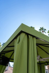 Exterior Close-up of Custom Cabanas Designed and Fabricated by Metro Awnings of Southern Nevada