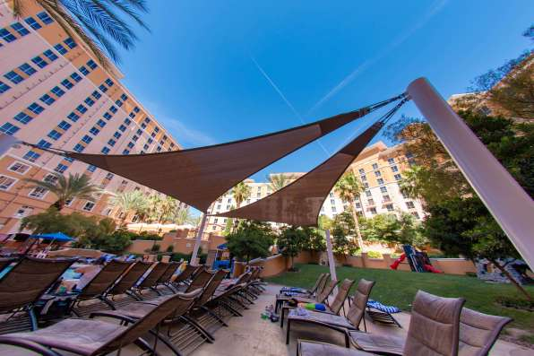 Wyndham Hotel Pool - Custom Designed Shade Sail by Metro Awnings