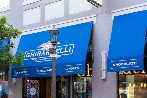 Custom Ghirardelli Branded Awnings by Metro Awnings of Las Vegas, Nevada