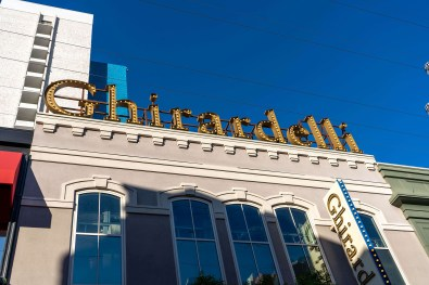 Ghirardelli Ice Cream and Chocolate Shop Sign at the LINQ Promenade Shops on the Las Vegas Strip