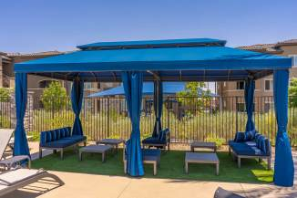 Level 25 Apartments - Custom Poolside Cabana Fabricated by Metro Awnings of Las Vegas, Nevada