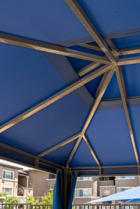 Interior Cabana Structure Fabricated by Metro Awnings of Las Vegas, Nevada - Level 25 at Durango and Oquendo