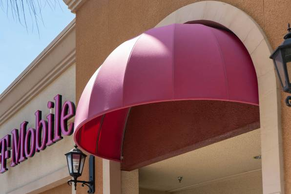 Close-up of Commercial Dome Awning Fabricated by Metro Awnings - T-Mobile Store in North Las Vegas