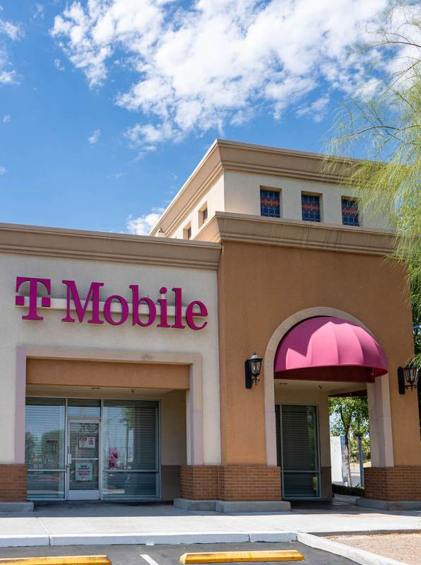 Front of North Las Vegas, Nevada T-Mobile Store - Custom Commercial Awnings by Metro Awnings