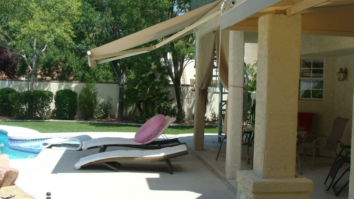 Residential Retractable Awning System - Metro Awnings of Las Vegas