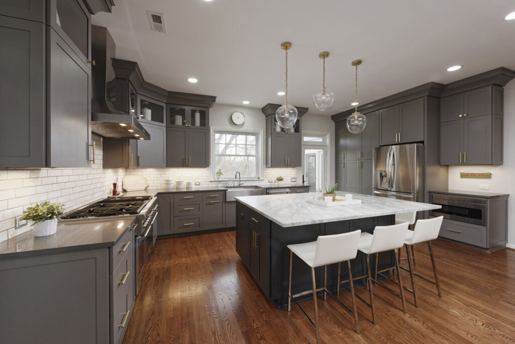 kitchen cost hammered copper backsplash average remodel costs in dc metro area va md configuration and structural changes impact