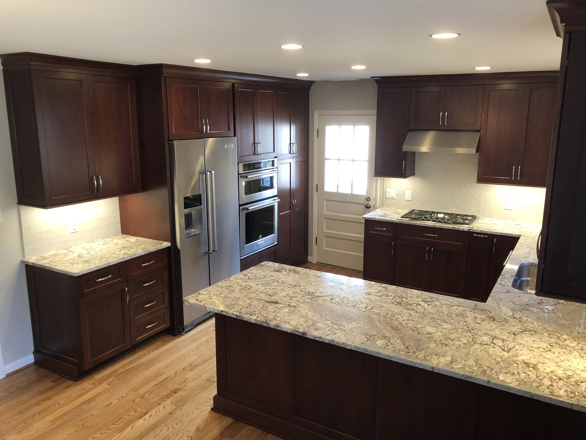 remodeled kitchen makeovers on a budget photos of remodel in arlington va dark cabinets 14